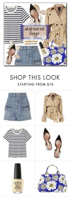 """""""#StatementBags"""" by beautiful-723 ❤ liked on Polyvore featuring RE/DONE, Marissa Webb, Tabitha Simmons, OPI, Prada, Napoleon Perdis, polyvoreeditorial and statementbags"""