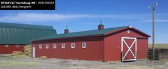 30'x64'x11' Cleary Dairy & Livestock Building in Harrisburg, NE | Colors: Red, Evergreen,