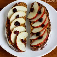 Tartinki365: Tartine 353. Rye Bread, Dried Cranberries, Coffee Shop, Peanut Butter, Muffin, Apple, Breakfast, Food, Butter