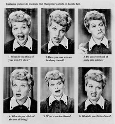 I love this! She has the BEST facial expressions. #ILoveLucy #Lucile Ball