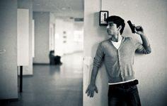 """Matthieu dans les couloirs du Corbusier. ( participation au concours """" polar """" sur Wipplay )"""
