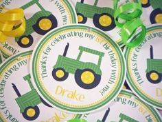 tractor themed first birthday party favors