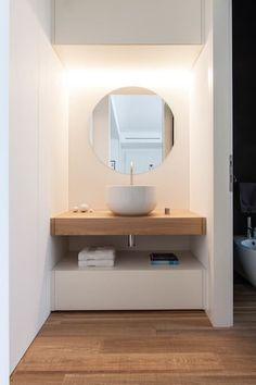 Best Modern Bathroom Design Photos And Ideas - Page 4 Bad Inspiration, Bathroom Inspiration, Modern Bathroom, Small Bathroom, Bathroom Ideas, Ikea Bathroom, Bathroom Mirrors, Bathroom Fixtures, Serene Bathroom