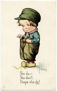 free printable digital image design resource ~ vintage Charles Twelvetrees postcard ~ She do