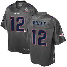 Men s New England Patriots Tom Brady Pro Line Gray Super Bowl LI Champions  Stronghold Fashion Jersey 51e78e61e