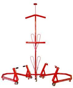 Kolekce stojanů pro moto RED KOMPLET Chandelier, Ceiling Lights, Red, Decor, Candelabra, Decoration, Chandeliers, Decorating, Outdoor Ceiling Lights
