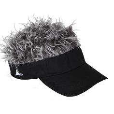 Flair Hair Visor Hat Golf Gray Grey  New Wig Cap  FREE SHIPPING Spike Goof Spiky #FLAIRHAIR #Visor
