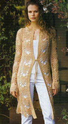 crochet coat chart, second project on page