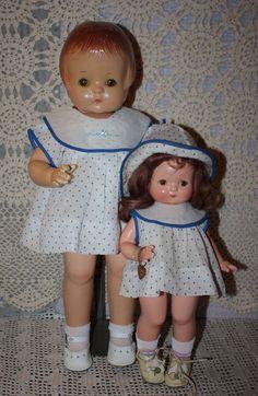 Original Effanbee Patsy Ann Doll Dress and Slip 1930s