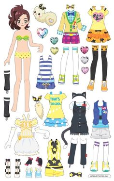 3번째 이미지 Paper Doll Costume, Barbie Paper Dolls, Vintage Paper Dolls, Paper Dolls Clothing, Doll Clothes, Diy Paper, Paper Crafts, Paper Dolls Printable, Dress Up Dolls