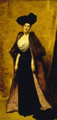 Mrs Ronnie Greville painted by Carolus-Duran in 1891. The indomitable hostess who 'collected' royalty and had a soft spot for Bertie and Elizabeth.