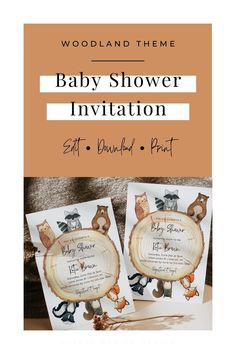 This adorable printable baby shower invitation is the perfect addition to your boy or gender neutral baby shower! Your friends and family will love the watercolor woodland animals theme! Personalize, download, and print right from home...or your favorite print shop with ease. Click here to start customizing yours today. Boy Baby Shower Themes, Gender Neutral Baby Shower, Floral Baby Shower, Printable Baby Shower Invitations, Invitation Set, Baby Shower Printables, Sunflower Wedding Invitations, Electronic Invitations, Virtual Baby Shower