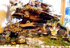 Garden+Fairy+Houses+Twigs | The fairy house ~ made from an ant eaten piece of a dead tree, rocks ...