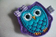 Boutique Embroidered Felt Purple and Turquoise by pachwilliamson, $3.00