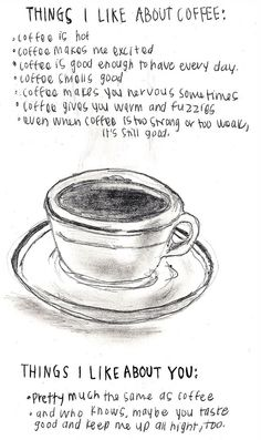 You're my coffee