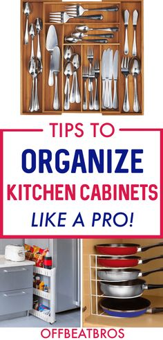 If you've stuggled to keep kitchen cabinets organized, you are not alone. But, these brilliant hacks will help you easily organize your Kitchen cabinets. Small Apartment Organization, Pantry Organisation, Small Bathroom Organization, Kitchen Cabinet Organization, Home Organization Hacks, Kitchen Cabinets, Organizing Ideas, Kitchen Hacks, Diy Kitchen