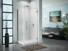 """Fleurco Platinum Cube 36"""" x 48"""" Door with Return Panel- Wall Mount Hinges PXQ3648 $1,771.20"""