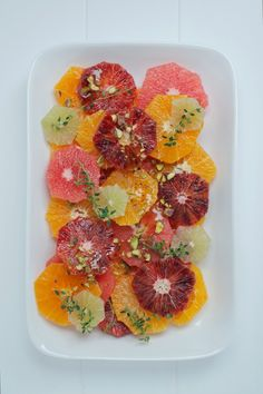Citrus Salad with Manuka Honey, Vanilla + Pistachio