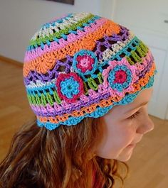 crochet hat pattern for girl