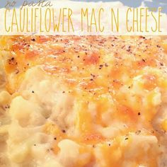 No Pasta Cauliflower Mac N Cheese - made made not the healthiest way to eat cauliflower, but so delicious! It fulfilled a mac and cheese craving. (atkins recipes no cheese) No Carb Recipes, Healthy Recipes, Veggie Recipes, Vegetarian Recipes, Cooking Recipes, Cheese Recipes, Atkins Recipes, Vegetarian Dinners, Kitchen Recipes