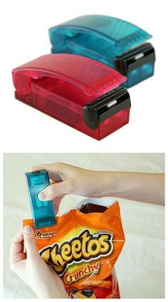 Bag Re-Sealer — 50 Useful Kitchen Gadgets You Didn't Know Existed Cooking Gadgets, Gadgets And Gizmos, Useful Gadgets, Top Gadgets, Amazon Gadgets, Cooking Tools, Cheap Gadgets, Unique Gadgets, Cooking Pork