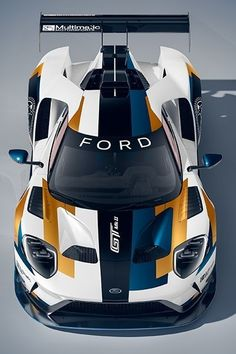 Ford GT Mk II is part supercar, part race car, all awesome - CNET Ford Gt, Ford Shelby, Car Ford, Racing Wallpaper, Sports Car Wallpaper, Gt Cars, Race Cars, Cars Auto, Muscle Cars
