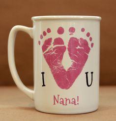 I Love You Footprint Mug 1300_mug by MyForeverPrints on Etsy