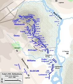Gettysburg Map, Gettysburg Battlefield, American Civil War, American History, Military Tactics, Self Defense Tips, Violent Crime, Historical Maps, American Revolution