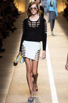 Fendi Spring/Summer 2015 ready-to-wear #MFW #Milan #FashionWeek