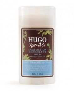 Hugo Naturals Dual Action Deodorant - Unscented