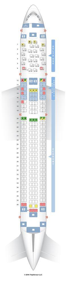 Seatguru Seat Map Delta Boeing 767 400er 76d - #Summer on