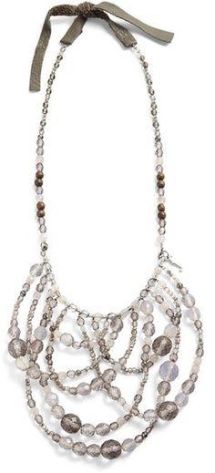 Fabiana Filippi Beaded Drape Necklace