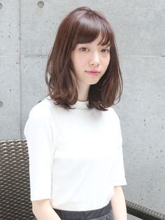 清楚系パーマミディアム Mid Hairstyles, Lob Hairstyle, Medium Long Hair, Medium Hair Styles, Long Hair Styles, Different Types Of Curls, Hair Arrange, Air Dry Hair, Short Hairstyles