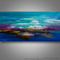Abstract Painting, Seascape, Acrylic Painting, Wall Art, Blue Seascape