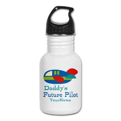 Daddy's Future Pilot Kid's Water Bottle