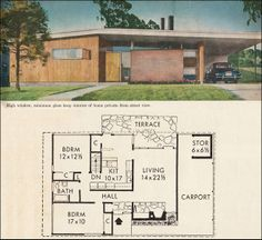 mid century floor plans - Google Search
