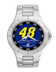 Product ID: DN4867 #48 Jimmie Johnson Men's Pro II Watch Stainless steel bracelet, Water resistant Miyota quartz movement $82.00 for more #48 Jimmie Johnson Gear www.nascarshopping.net #NASCAR #Hendrickfans #henderickmotorsports #48jimmiejohnson