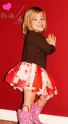 tutorial for a scrappy skirt