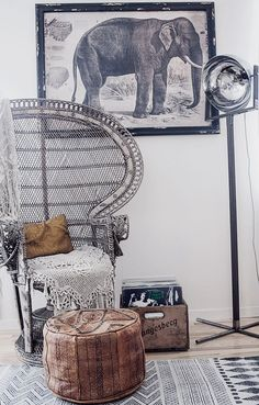HOME & GARDEN: 70 inspirations pour mettre un fauteuil Emmanuelle dans sa…