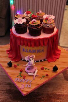 https://flic.kr/p/bbdk7e | Angelina the Ballerina cake