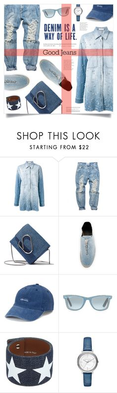 """All Denim, Head to Toe"" by marina-volaric ❤ liked on Polyvore featuring Faith Connexion, 3.1 Phillip Lim, Alexander Wang, SO, Ray-Ban, Givenchy, Michael Kors and alldenim"