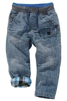 Buy Rib Waist Check Lined Jeans from the Next UK online shop