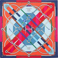 Hermes silk twill scarf, hand-rolled, 36