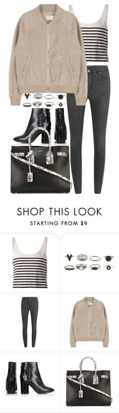 """""""Untitled #7726"""" by nikka-phillips ❤ liked on Polyvore featuring moda, rag & bone, Cheap Monday, Topshop y Yves Saint Laurent"""