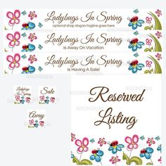 Ladybugs In Spring - Large Banner Set