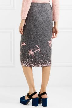 Prada   Embellished mohair-blend pencil skirt   NET-A-PORTER.COM