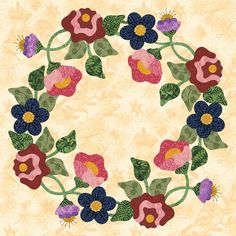 P3 Designs: Shop | Category: Forever Blooming 2014 BOM | Product: P3-2118 BOM Flower Wreath