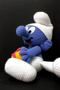 #Amigurumi #Smurf #knitted