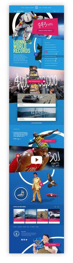 Guinness World Records Website on Behance