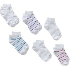 86e0bad2529 PEDS - Low Quarter With Color Stripe Socks